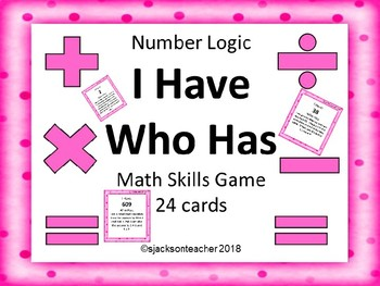 I Have Who Has: Number Logic Game FREE