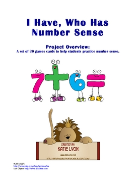 I Have, Who Has - Number Sense