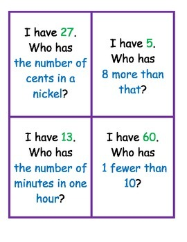 I Have, Who Has Number Sense