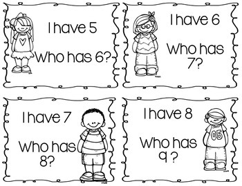 I Have Who Has: Number Sense