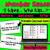 Number Sense I Have Who Has Game (Before, Between, After)