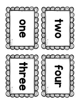 I Have, Who Has Number Words - Differentiated