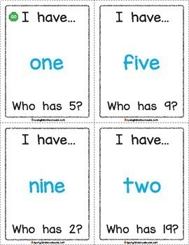 I Have, Who Has Number Words