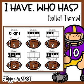 I Have Who Has Number cards {Football Themed}