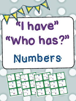"""I Have ... Who Has ... """"Numbers"""""""