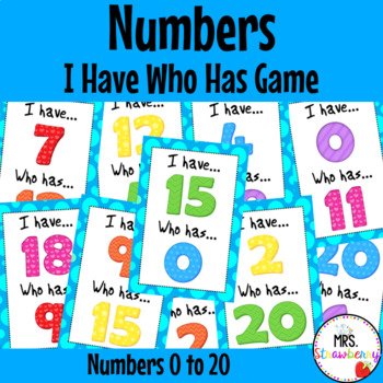 I Have Who Has - Numbers 0-20 {Number Recognition Game} Numbers to 20