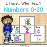 I Have Who Has Game with Numbers 0-20