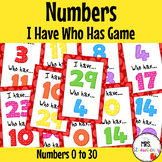 I Have Who Has - Numbers 0-30 {Number Recognition Game} Numbers to 30