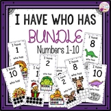 I Have Who Has Numbers 1-10 Year Round Bundle