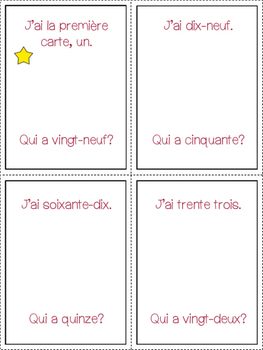 I Have, Who Has? Numbers 1-100 in French {Speaking}