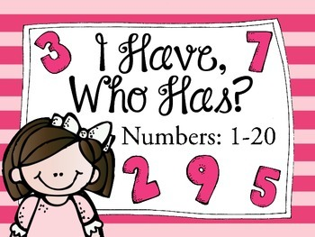 I Have, Who Has: Numbers 1-20
