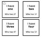 I Have / Who Has Numbers 1-20
