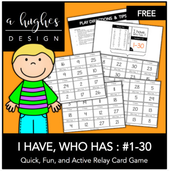 FREE I Have, Who Has: Numbers 1-30 {A Hughes Design}