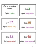 I Have, Who Has - Numbers 1-50 in French (J'ai, qui a)
