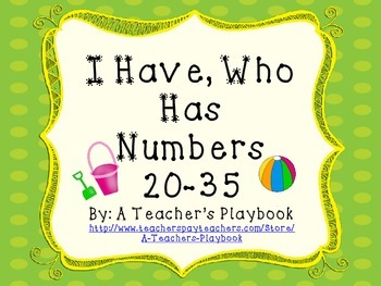 I Have, Who Has Numbers 20-35