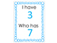 I Have, Who Has: Numbers