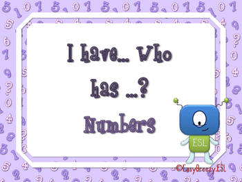I Have, Who Has ? Numbers Game (48 cards)