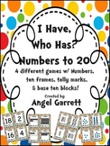 I Have,  Who Has Numbers to 20 (4 Different Ways to Show Number)