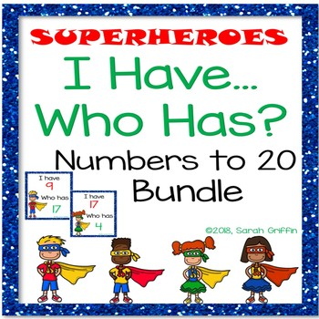 I Have Who Has Numbers to 20 Bundle