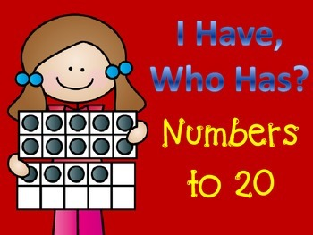 I Have, Who Has? Numbers to 20 Game