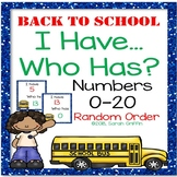 I Have, Who Has? ~ Numbers to 20 Game ~ Back to School