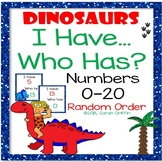 I Have, Who Has? ~ Numbers to 20 Game ~ Dinosaurs