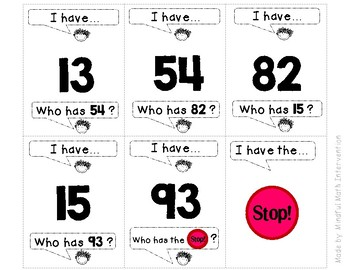 I Have Who Has - Numeral ID