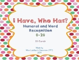 I Have, Who Has? - Numeral and Word Recognition {0-20}