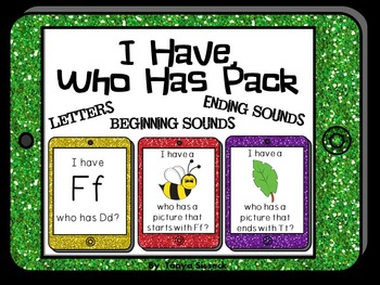 I Have Who Has Pack of Games for Letters Beginning Sounds and Ending Sounds