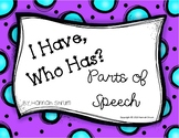 I Have Who Has Parts of Speech Game