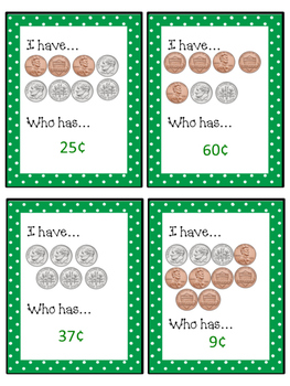 I Have...Who Has... Pennies and Dimes- NO PREP