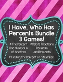 I Have, Who Has... Percent Bundle {3 Different Games}