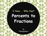 I Have, Who Has - Percents to Fractions