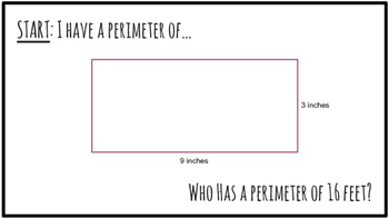 I Have, Who Has- Perimeter