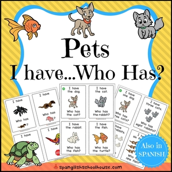 I Have, Who Has {Pets Theme}