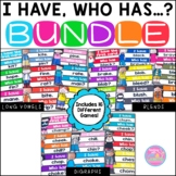 I Have Who Has Game {Long Vowels, Blends, and Digraphs Bundle}