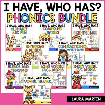 I Have, Who Has-Phonics Bundle