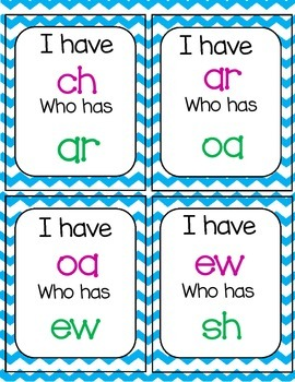 I Have... Who Has- Phonograms