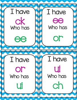 I Have, Who Has Phonograms