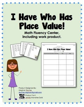 I Have Who Has, Place Value