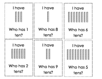 I Have Who Has ... Place Value