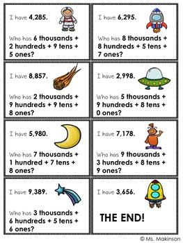 I Have, Who Has? Place Value 1,000-9,999