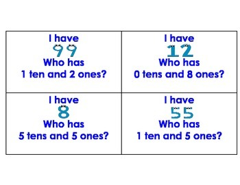I Have Who Has- Place Value