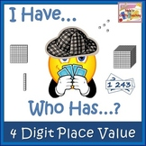 Place Value - 4 Digit Numbers - 'I Have, Who Has' game