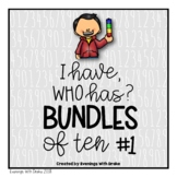 I Have Who Has Place Value (Bundling Tens) Card Set