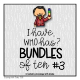 I Have Who Has Place Value (Bundling Tens Plus Ones) Card Set 3