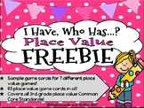 I Have Who Has Game: Place Value (FREEBIE)