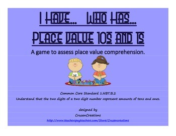 I Have... Who Has... Place Value Tens and Ones - Common Co