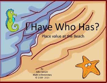 I Have Who Has Place Value at the Beach