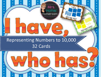 I Have, Who Has: Representing Numbers to 10,000
